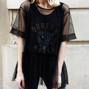 Zara Modern Rebel Mesh Top